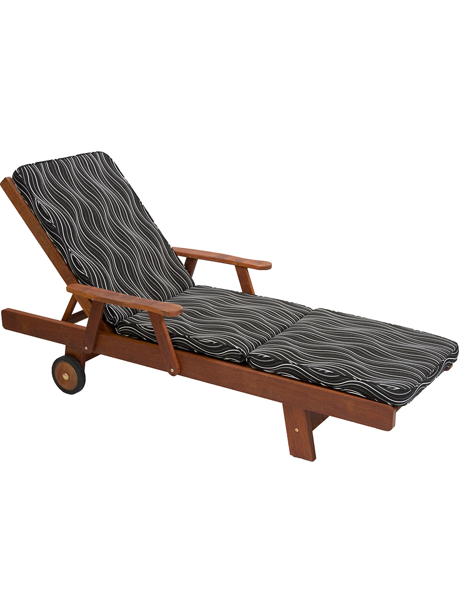 Sunproof Outdoor Furniture Sun lounge Cushion For Kwila Timber Outdoor Furniture BLACK WINDSOR