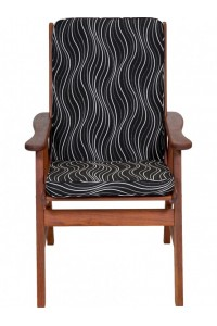 black windsor low back outdoor cushion