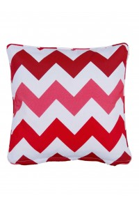 small throw cushion rondina red